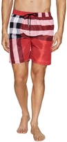 Burberry Men's Elasticized Printed Swim Trunks
