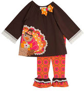Rare Editions Girls 2-6x Top and Pants Set