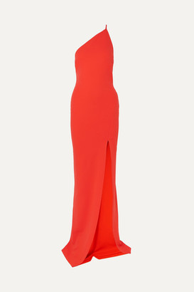 SOLACE London Petch One-shoulder Stretch-crepe Gown - Red