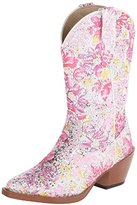 Roper Girl's All Over Glitter and Lace Snip Toe (Toddler/Little Kid)
