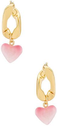 BaubleBar Amour Chain Drop Earrings