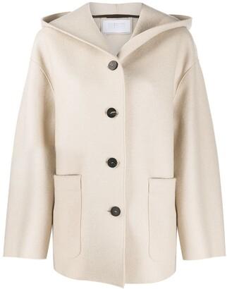 Harris Wharf London Patch Pocket Hooded Jacket