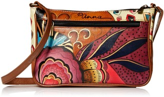 Anna by Anuschka Hand Painted Leather Women's Mini Wide Crossbody