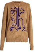 Christopher Kane Logo-jacquard wool sweater