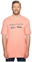 Nautica Big Tall Flags Tee Men's T Shirt