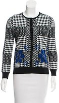 Alexander McQueen Button-Up Jacquard Cardigan