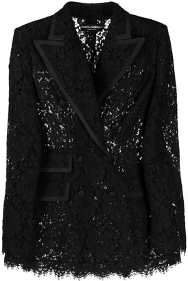 Dolce & Gabbana Lace Double-Breasted Blazer