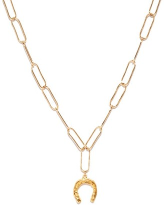 Alighieri The Captured Horseshoe 24kt Gold-plated Necklace - Womens - Gold