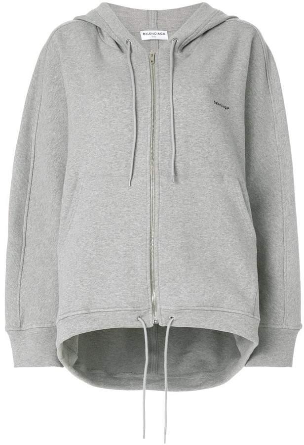 Balenciaga logo printed cocoon hoodie