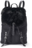 Candies Candie's® Faux Fur Flap Drawstring Backpack