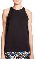 Milly Marie Stretch-Silk Tank Top