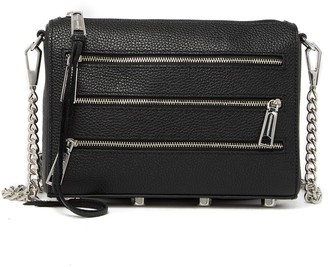 Rebecca Minkoff Mini 5 Zip Leather Crossbody