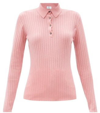 Allude Ribbed-knit Cashmere Sweater - Pink