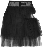 Simone Rocha Cutout Tiered Tulle Mini Skirt