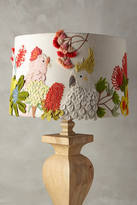 Anthropologie Embroidered Cockatoo Lamp Shade