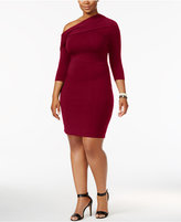 Soprano Trendy Plus Size One-Shoulder Bodycon Dress