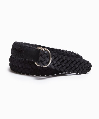 Andersons Suede Braided D-Ring Belt in Black