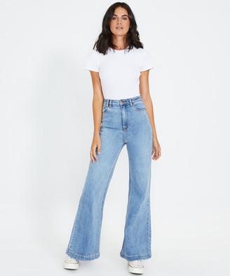 Insight Farrah Flare Jeans Fader Blue