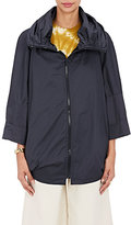 Sea Women's Ruched-Collar Cotton Jacket-NAVY