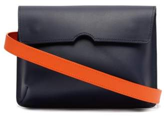Pb 0110 Ab65 Leather Belt Bag - Womens - Navy Multi