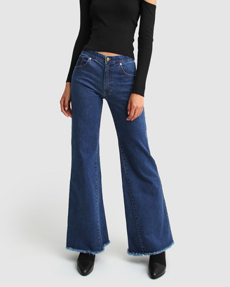 Belle & Bloom Flare Up Fly Front Jeans