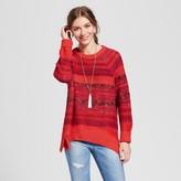 Mossimo Women's Pullover Sweater Orange Spacedye