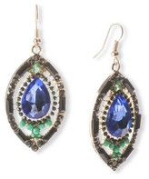 Marquis Capsule by Cara Dangle Earrings - Blue/Green/Black