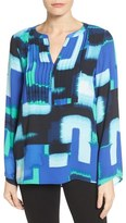 Chaus Abstract Pintuck Blouse