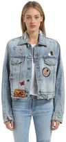 Amiri Destroyed Denim Jacket W/ Patches