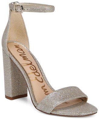 Sam Edelman Yaro Ankle-Strap Metallic Sandals