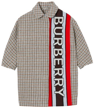 Burberry Virgin Wool Houndstooth Coat