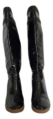 Cã©Line Lefã©Bure CAline LefAbure Black Patent leather Boots