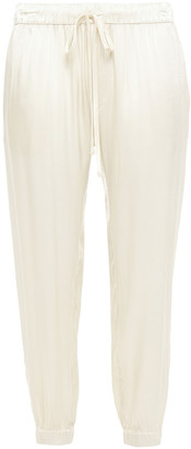 Enza Costa Cropped Satin Tapered Pants