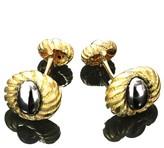 Tiffany & Co. 18k Yellow Gold Hematite Cufflinks