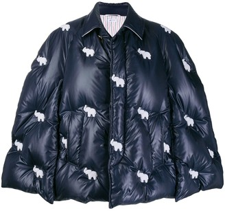 Thom Browne Elephant Motif Padded Cape