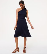 LOFT One Shoulder Flare Dress