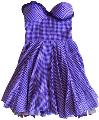 Luella Purple Cotton Dress for Women