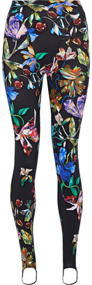 Thierry Mugler Printed Stretch-jersey Stirrup Leggings