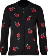 Moschino Virgin Wool Rose Cardigan
