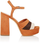 Derek Lam Women's Birgitta Colorblocked Suede Platform Sandals-BLACK, BEIGE, DARK BROWN, BROWN