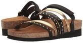 Naot Footwear Prescott (Oily Coal Nubuck/Gold Leather/Black Madras Leather) Women's Shoes