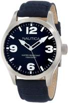 Nautica Men's Leather N11555G Cloth Quartz Watch with Dial