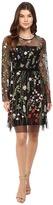 Hale Bob Constant Gardener Embroidered Mesh Dress
