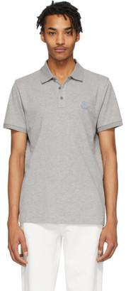 Moncler Grey Pique Polo