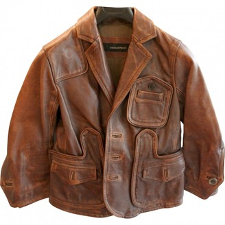 DSQUARED2 Brown Leather Leather Jacket for Women