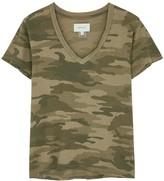 Current/Elliott Camouflage-print cotton T-shirt