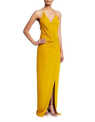 Cushnie Halter-Neck Low-Back Gown