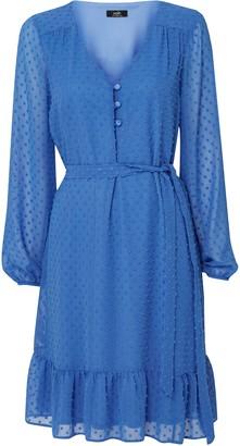 Wallis Blue Polka Dot Mesh Dress