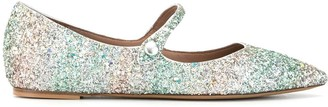 Tabitha Simmons Hermione glitter ballerina shoes