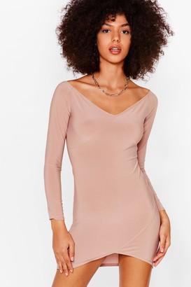 Nasty Gal Womens Here Today Bodycon Tomorrow Mini Dress - Black - 8
